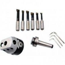 Головка расточная патрон 100 мм диаметр расточной 15-160 мм хвостовик КМ5 6 резцов сталь Т15К6 47154