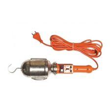 Лампа переносная UNIVERSAL длина 5 м 60 Вт с выключателем и розеткой 83326