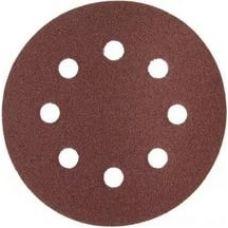 Круг из абразивного волокна 150 мм Р 80 6 отверстий 5 шт ЗУБР 35566-150-080