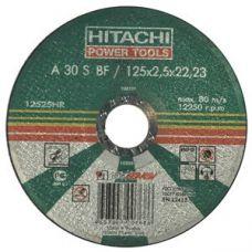 Круг абразивный отрезной 125х2,5х22 мм 30А HITACHI/HIKOKI по металлу с25915