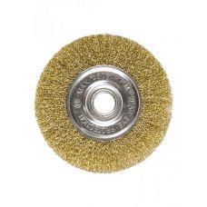 Щетка дисковая 200х22 мм витая латунь MATRIX 74668