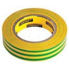 Изолента ПВХ желтая/зеленая 15 мм х 0,18 мм х 10 м STAYER 12292-S-15-10 12292-S-15-10