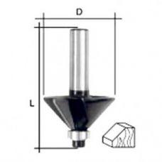 Фреза по дереву кромочная конусная 45 градусов нижний подшипник 25х50 мм FIT