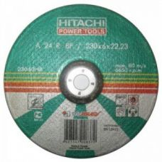 Круг абразивный зачистной 230х6х22 мм 24А HITACHI ХИТАЧИ с25922