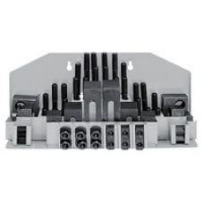 Набор клиновых ступенчатых прижимов 58 предметов паз 19,7 мм М18х2,5 мм 34934
