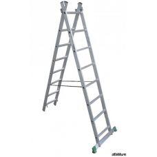 Лестница ТАRКО PROF универсальная 2 секции 8 ступеней 2,31/3,73 м толщина 1,5 мм грузоподъемность 15