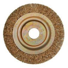 Щетка дисковая 125х22 мм витая латунь Гефест