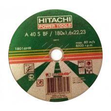 Круг абразивный отрезной 180х1,6х22 мм 40А HITACHI ХИТАЧИ по металлу с25913