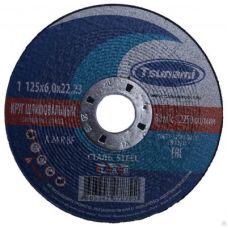 Круг абразивный зачистной 125х6х22 мм 24А R BF L TSUNAMI D16110012562300