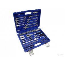 Набор инструмента  77 предметов 1/2, 1/4 дюйма размер 4-32 мм 6 граней KINGTUL KT77