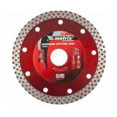 Диск алмазный 125х22,2 мм сухая резка керамогранит для УШМ MATRIX