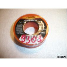 Припой ПОС-60 1мм 50г пластмассовая катушка SPARTA