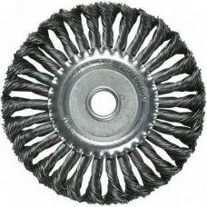 Щетка дисковая 200х22 мм плетеная сталь MATRIX