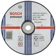 Круг абразивный зачистной 230х6х22 мм 24А BOSCH 2608600228
