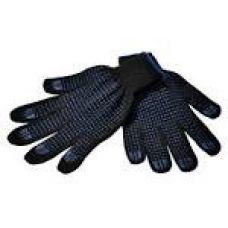 Перчатки  х/б с ПВХ 10/5 черные тигровые