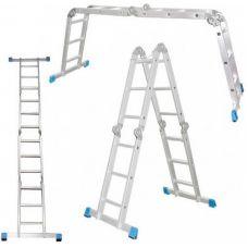 Лестница-трансформер 4 секции 3 ступени 0,88 - 3,44 м АЛЮМЕТ Россия