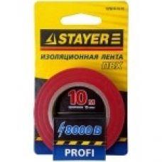 Изолента ПВХ красная 15 мм х 0,18 мм х 10 м STAYER 12292-R-15-10 12292-R-15-10