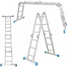 Лестница-трансформер 4 секции 4 ступени 1,22 - 4,73 м АЛЮМЕТ Россия