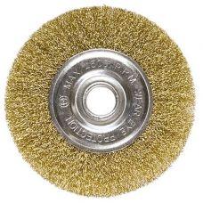 Щетка дисковая 125х22 мм витая латунь MATRIX 74656