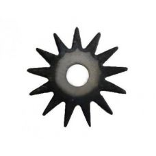 Шарошка острозубая диаметр 38х1,5х13 мм звездочка сталь 20 закаленная твердость 65HRC 36792