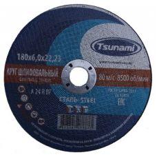 Круг абразивный зачистной 230х6х22 мм 24А R BF L TSUNAMI D16110023062200