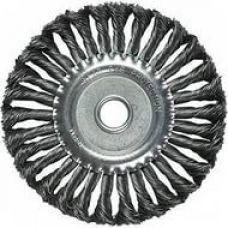 Щетка дисковая 150х22 мм плетеная сталь MATRIX