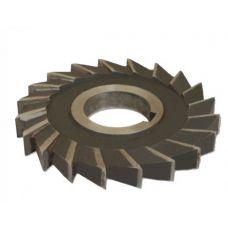 Фреза дисковая 100х14х32 мм z=20 сталь Р6М5 3-х сторонняя 23908