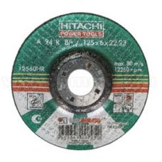Круг абразивный зачистной 125х6х22 мм 24А HITACHI ХИТАЧИ с25918