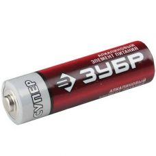 Батарейки тип AA пальчиковые 1,5 В ЗУБР 4 шт