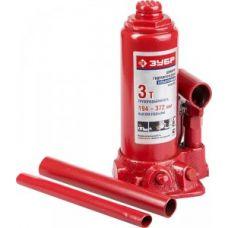 Домкрат гидравлический бутылочный грузоподъемность 3,0 тонны ЗУБР 43060-3