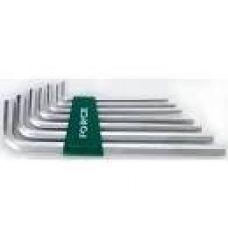 Ключи шестигранные комплект  7 шт удлиненные Г-образные FORCE