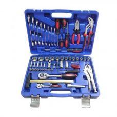 Набор инструмента  72 предметов 1/2, 1/4 дюйма размер 4-32 мм 6 граней KINGTUL KT72