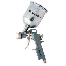 Краскораспылитель верхний бачок емкость 0,6 л диаметр выходного отверстия 1,2 мм 1,5 мм 1,.8 мм MATRIX 57314