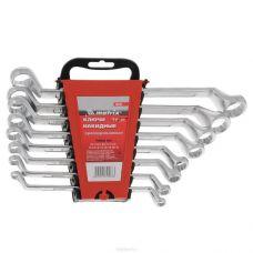 Ключи КГНДИ комплект 8 штук размер 6-22 мм накидные оцинкованные MATRIX