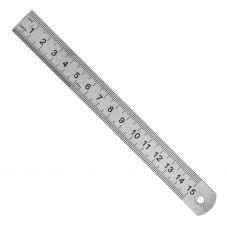 Линейка измерительная металлическая 150 мм  Sparta 305045